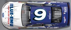 No. 9 BLUE-EMU Ford Top View