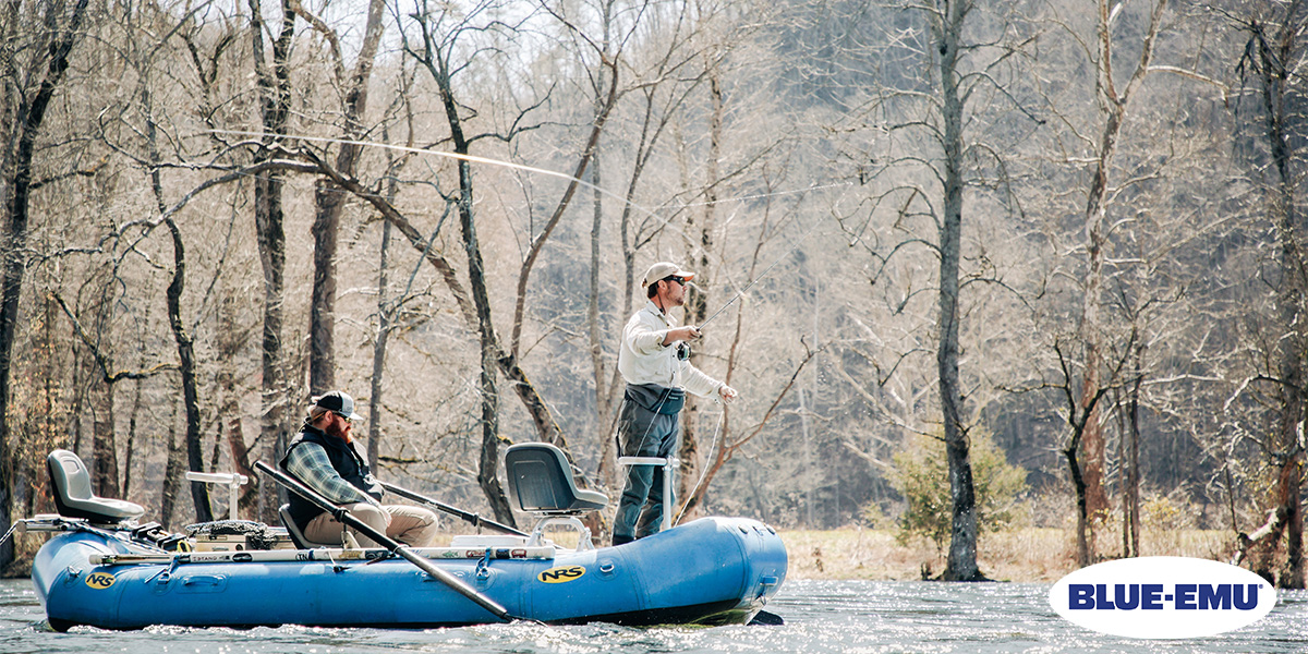 Image of Guide Matt Reilly Fly Fishing with a client on the South Holston River